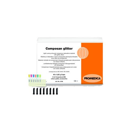 Composan glitter Capsules, Kit (Light Curing Coloured Compomer Filling Material with Glitter Effect)