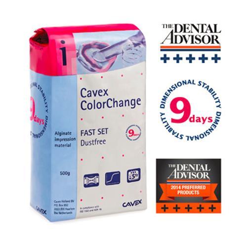 Cavex ColorChange Alginate (Fast Set, Dust Free)