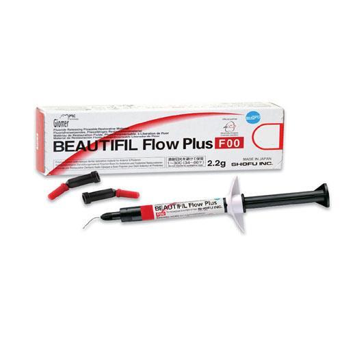 BEAUTIFIL Flow Plus F00 (Zero Flow), Flowable Composite Shade A2O (Opacious Dentin A2)