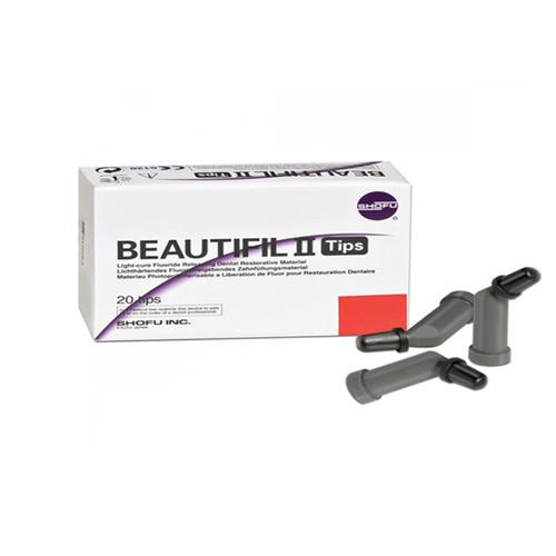 BEAUTIFIL II Tips (Compules, Shade C2), Nano Hybrid Composite with Fluoride Release