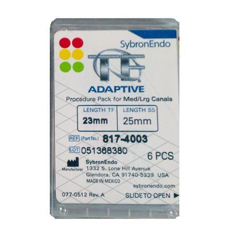 SybronEndo TF Adaptive Assorted Files 23mm (Medium-Large Procedure Pack)