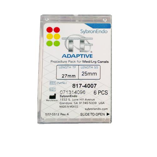 SybronEndo TF Adaptive Assorted Files 27mm (Medium-Large Procedure Pack)