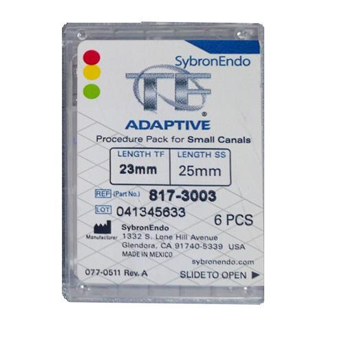 SybronEndo TF Adaptive Assorted Files 23mm (Small Procedure Pack)