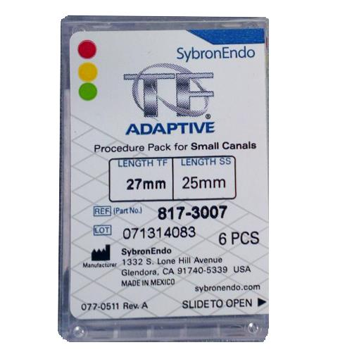SybronEndo TF Adaptive Assorted Files 27mm (Small Procedure Pack)
