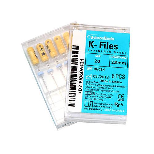 SybronEndo K Files Size 20 (25mm)