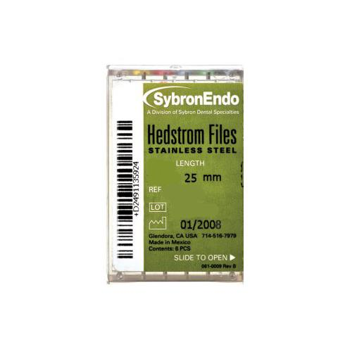 SybronEndo Hedstrom Files 25 mm (Size 45-80 Assorted)