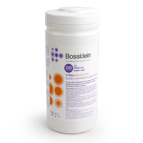 Bossklein Large Alcohol Free V Wipes (Surface Disinfectant Large Wipes)
