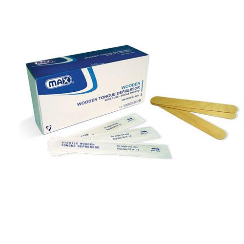 Max Sterile Wooden Tongue Depressor (Adults)