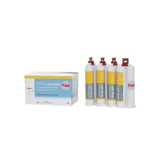 DENU Light Body Fast Set, Cartridge Type (Vinyl Polysiloxane Impression Material)