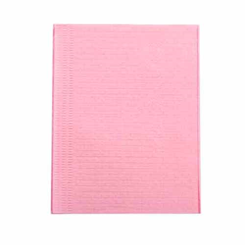 Dental Bib 3ply Without Tie (Pink)