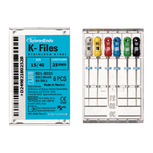 SybronEndo K Files Assorted 15 to 40 (25mm)