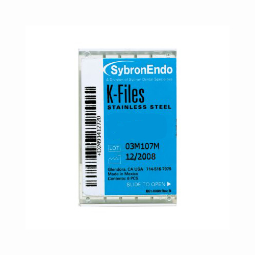 SybronEndo K Files Assorted 45 to 80 (21mm)