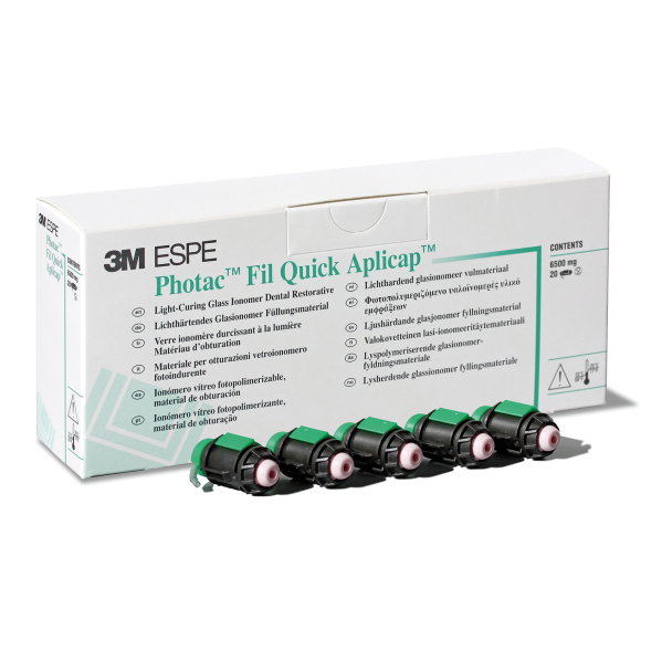 Photac Fil Quick Aplicap A1 (Light Curing Glass Ionomer Restorative Material)