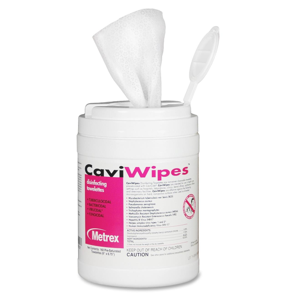 CaviWipes Canister (Disinfectant Wipes for Surface of Medical and Dental Devices)