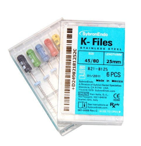 SybronEndo K Files Assorted 45 to 80 (25mm)