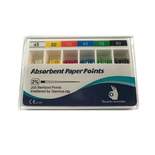 ISO Size 0.02 Absorbent Paper Points (Assorted 45-80)