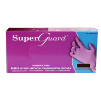 Super Guard Powder Free Bluple Nitrile Medical Examination Gloves (Large)