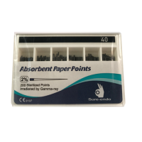 ISO Size 0.02 Absorbent Paper Points (Size 40)