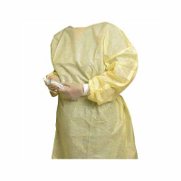 Non Woven Isolation Gown, Yellow (Large)